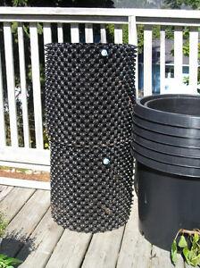 10-15 gallon black garden pots