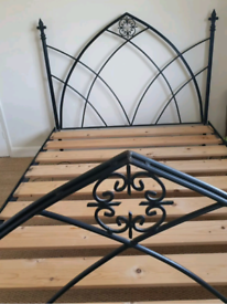 King size cast iron bed frame
