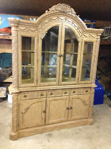 Ashley North Shore Dining Room Table & Hutch