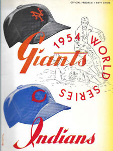Baseball; 1954 World Series, Giants & Indians, fine condition
