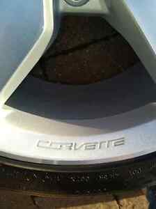 "Corvette staggered set - 19''/18"" rims/tires - $1800.00 Kitchener / Waterloo Kitchener Area image 2"