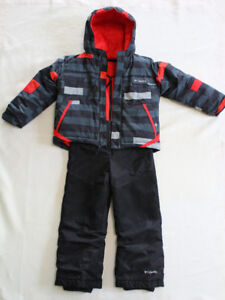 Boys Columbia winter jacket and snow pants 2pc set, size 4T-5T