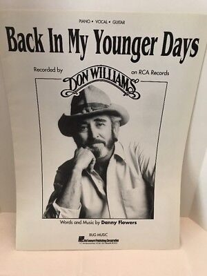 Don Williams Back In My Younger Days Sheet Music Piano Vocal Guitar
