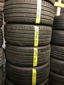 275-45-21 PIRELLI ALL-SEASON TIRES IN GOOD CONDITION !!