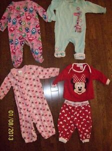 Girls Sleepers, Size - 6 to 9 months