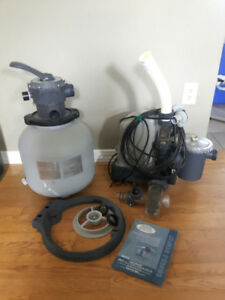 Krystal clear sand filter pump & saltwater system