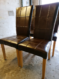 6 leather dining chairs