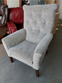 Chair - Quality Extra Comfy Shackletons Light Brownish Chenille Chair.