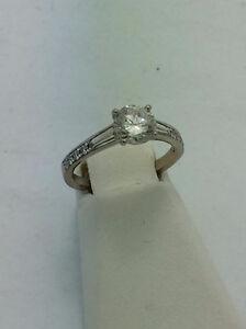18kt White Gold Simon G Engagement Ring