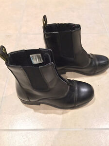 "Equestrian Children's Riding Boots - ""SAXON- Zip Paddock Boots"""