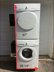 "Coin operated washer and dryer""Moffatt "",condo size-24""."
