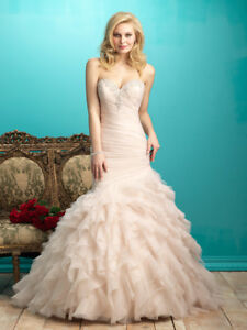 Never worn Allure blush champagne dress