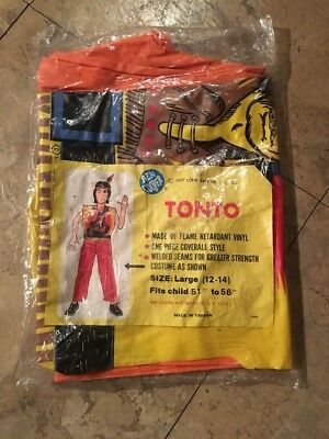 Ben Cooper Costume Tonto From The Line Ranger Factory Sealed 1977 Very Rare - 1977 Halloween Costumes