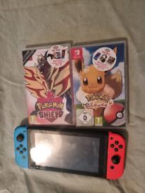 Nintendo switch +2 games