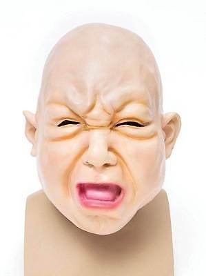 BABY-MASKE, HALLOWEEN GUMMI HORROR MASKE #DE (Baby Maske Halloween)