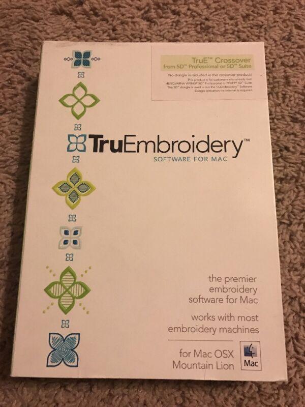 Tru E Crossover Embroidery Software for MAC