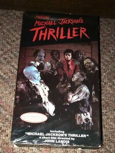 Making Michael Jackon's Thriller VHS Cassette Tape