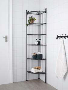 IKEA RÖNNSKÄR Corner shelf unit, black