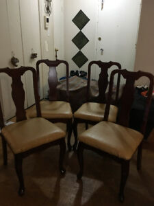 Urgent Sale!! $290 Bombay Wooden and Leather Dining Chair Set