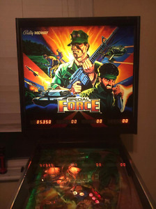 1986 BALLY MIDWAY SPECIAL FORCE PINBALL MACHINE