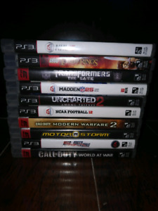 10 different Ps3 Games