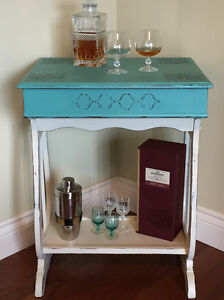 Beautiful Chalk - Painted Accent Table