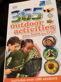 """""""365 outdoor activities you have to try"""" book, kids, educational"""