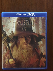 Hobbit Blue ray 3D 5 Disc collection