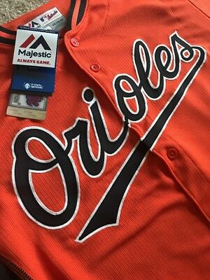 1) 100% Stitched Baltimore Orioles Cool Base Jersey,Orange - 44-L or 48-XL, (1 Cool Base Jersey)