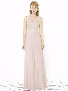 Beautiful Bridesmaid Dress in Blush and Ivory