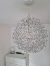 Easy fit silver light shade fitting