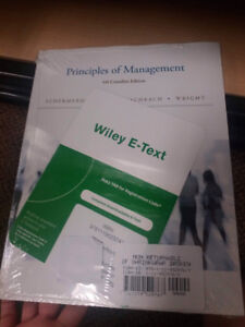 Principles of management book and access code