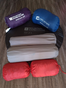 Camping equipment - tent, sleeping bags, chairs, cooking, etc
