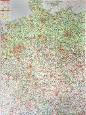 Strassenkarte Deutschland mit Metallleisten Deutschlandkarte Landkarte Wandkarte