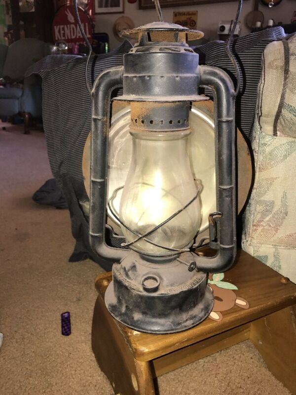 antique dietz lantern Complete With Glass Rare New York USA