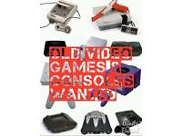 Old video games and consoles wntd SNES Megadrive NES N64 GameCube PS1 Saturn