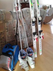 ensemble de skis