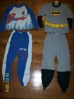 Spiderman & Batman Pajamas, Boys Size 6