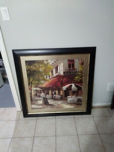Framed Painting (print on canvas) $40 OBO