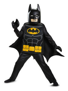 NEW: Lego Movie Batman Deluxe Kids Costume (Size 4-6)