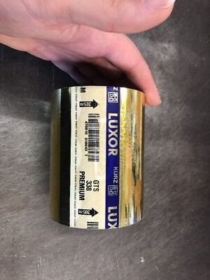 Kurz Luxor Gold Foil Hot Foil Stamping Foil Gold Blocking 120mm Full Roll