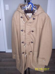 Wool Tan Dress Coat