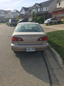 2001 corolla for sale