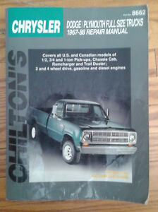 Chiltons Chrysler Truck 1967-88 Repair Manual