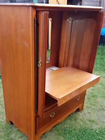 Antique tv cabinet