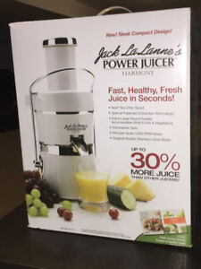Jack Lalanne Power Juicer, brand new still in box!
