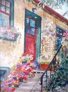 """Art Studio Colors by Imke Pearson """"The Red Door"""" 1980's Stratford Kitchener Area image 4"""