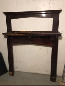 Antique Fireplace Mantel - twin bed headboard