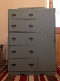 1950s dresser cabinet with mirror vintage shabby chic