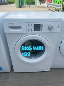 Bosch 8kg washing machine free delivery in Nottingham